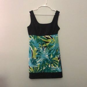 Black and flowered tank dress